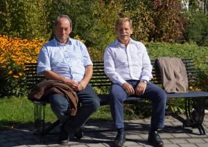 """Besprechung der kommenden Termine im """"Freiluftbüro"""""""