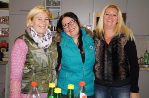 Kati, Sandra und Sabine versorgten die Gäste