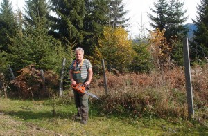 Unterwegs getroffen - Moaser bei der Waldarbeit