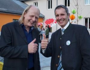 Ein gutes Team: Architekt Walter Brandhofer und Vize Sepp Schachner - Danke für eure ausgezeichnete Arbeit!