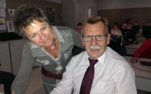 Kollegin Uli Höbarth schulte die IT Betreuer und Schuladministratoren ein