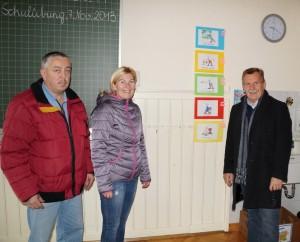 Schulbesuch - Besprechung der notwendigen Sanierungsmaßnahmen