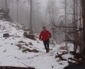 10 bis 15 cm Schnee waren bergauf ziemlich kraftraubend.