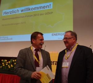 Der erste Bekannte in Bad Sschallerbach - Bergsteigerdorfbürgermeister Franz Kneissel aus Steinbach an der Steyr