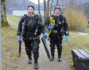 Taucherchef Werner Gamsjäger mit Tauchlehrer Günter Pritz - ich wünsche euch alles Gute und viel Arbeit für 2014!