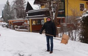 Schneeschaufler Ludwig - hoffentlich bekommst du in den nächsten Tagen noch viel Arbeit!