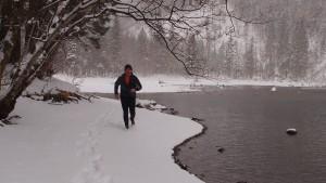 Endlich etwas winterlich - am Ufer des Mittersees