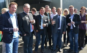 Obmann Andreas Hanger begrüßt die Lunzer Delegation
