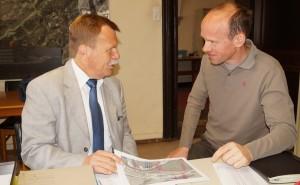 Auftragsbesprechung mit dem Chef der Fa. Forex