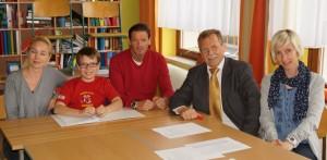 Elias Stibl war der allerserte Schüler bei einem KEL-Gespräch in Lunz.