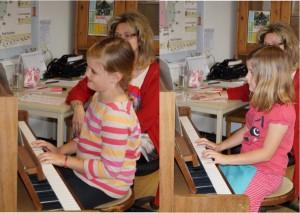 Unsere Enkeltöchter Lena und Sophie - gratuliere, ihr habt super gespielt!