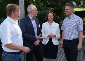 Spezialführung von Dr. Thomas Hein und Dr. Erika Fischer für Bürgermeister und Abgeordneten andreas Hanger
