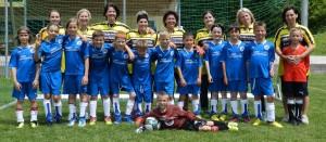 Mit viel Einsatz dabei - Fußballermütter
