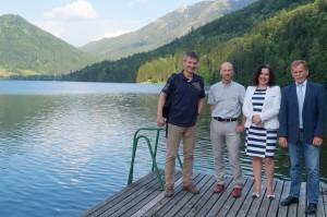 Martin Kainz (WKL), Prof.  Hietz (Organisator), Präsidentin der Gesellschaft Maria Müller - Danke für die Einladung zur Eröffnung!