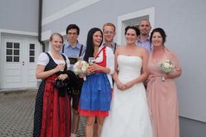 """Kurzbesuch der """"Brautvazahra"""". Liebe Eva, ich wünsche dir und deinem Markus alles Gute!"""