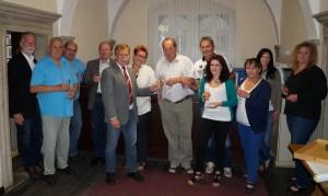 ein Prosit nach Dienstschluss auf unsere Geburtstagskinder Barbara Eigner und Hans Mayr - danke für die einladung!