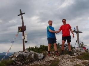 """Urlaubsbedingte """"Amtsübergabe"""" am Gipfel! Lieber Sepp, unser Tourl hat mit richtig getaugt!"""