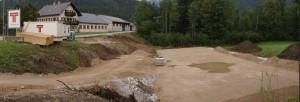 Wohnhaus Seestraße - Vorarbeiten für die Fundamentplatte sind erledigt.