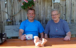 Im Tal angekommen gibts bei der Mutter einen guten Kaffee - vielen Dank!