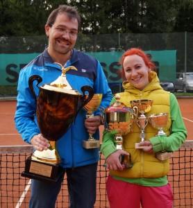 Natascha Pechhacker und Wolfgang Höllmüller - die Vereinsmeister 2014. Herzliche Gratulation!