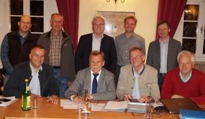 Die fdurchwegs freundlichen Gesichter der Vorstandsmitglieder entsprechen dem Projektstand. Danke für die gute Zusammenarbeit!