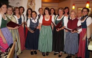 Der Bäuerinnenchor sorgte für die stimmungsvolle musikalische Umrahmung