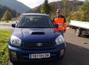 Unterwegs mit unserem neuen Fahrzeug - gute Fahrt!