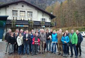 Unsere Reisegruppe bei der Talstation