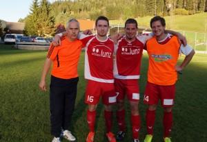 Trainer, Kapitän und Obmann mit dem Torschützen Simon Roseneder - gratuliere zum guten, kampfbetonten Spiel und danke für den spannenden Sportnachmittag!