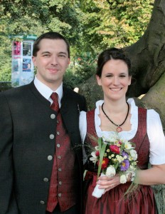 Bei der Hochzeit in Hamburg