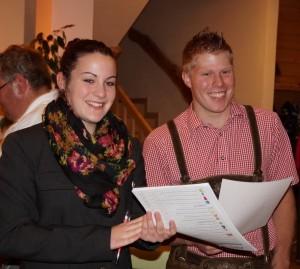 Gut gelaunt leiteten Bianca und Daniel die Jahreshauptversammlung. danke für euren einsatz und alles Gute für die neue Funktionsperiode!