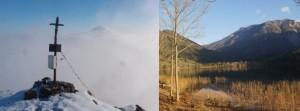 Zwei Gesichter des Scheiblingsteines - um ca. 9 Uhr am Gipfel und am frühen Nachmittag mit Blick über den See!