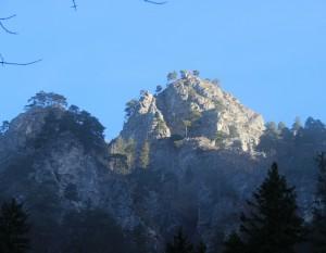 Aufstieg durch den Lechnergraben - Blick Richtung Sonnwendmauer