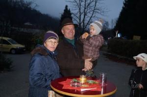 Zu besuch beim Advent im Amonhaus - Altbürgermeister, Geburtstagskind und OpaBert Wieser aus Randegg. Lieber Bert, ich wünsch dir alles Gute!