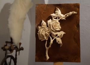"""Unter den vielen wunderschönen Kunstweken hat mit die """"Eisenrose"""" von Sepp Schneckenleitner besonders gefallen!"""