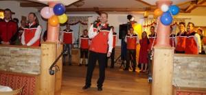 Der Obmann begrüßt die Gäste und bedankte sich bei allen Unterstützern