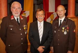 Besonders gratuliere ich den Lunzen Feuerwehrkameraden Franz Bachler und Gerhard Schmid.