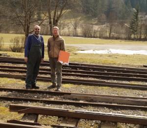 Lokalaugenschein mit Manfred Schneider (NÖLB) und unserem Planer Ali Graf