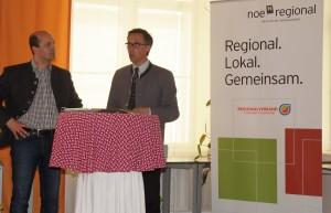 Hannes Pressl und Georg Strasser begrüßen und moderieren