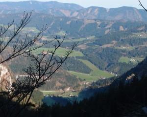 Blick aus dem Lechnergraben auf Lunz