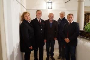 Reinhard Fahrngruber mit unseren Museumsverantwortlichen