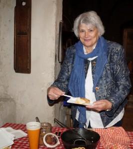 In der Rauchkuchl verorgte uns Maria mit Sterz - vielen Dank.