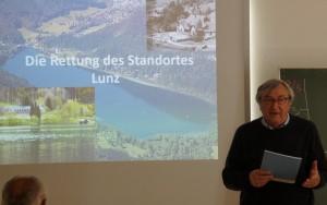 Prof. Fritz Schiemer befasste sich ausführlich mit der Entstehungsgeschichte des Wasseklusters.