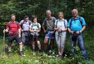 Zusammentreffen mit Ybbsitzer Dürrensteingehern am Obersee