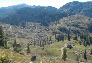 Blick zurück auf die Ybbstalerhütte